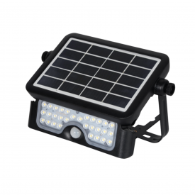 refletor led solar ecoforce com sensor luz branca 6 0000k 800lm