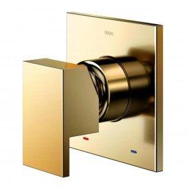 acabamento monocomando chuveiro docol new edge minima 3 4 alta baixa pressao ouro polido 00925943