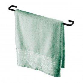 porta toalha fechado 60cm evoluzione future 2308 preto fosco