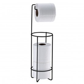 suporte papel higienico de chao superiore future 1051 preto fosco