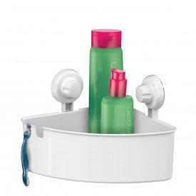 cantoneira banheiro com ventosas praticita bella future 401 branco