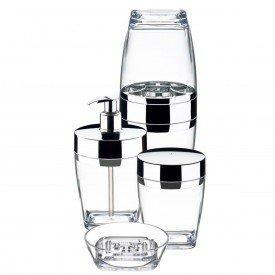 conjunto para banheiro 4 pecas cristalo future 2705nt