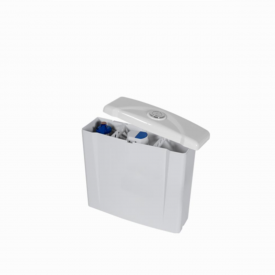 caixa de descarga acoplada universal astra acionamento simples branca